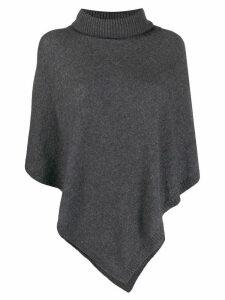 LIU JO poncho-style knit sweater - Grey