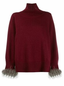 Fabiana Filippi turtle-neck flared jumper