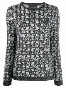 John Richmond knitted logo jumper - Black