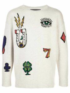 The Elder Statesman Rambler jacquard-knit jumper - NEUTRALS