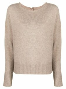 LIU JO crew-neck knit sweater - Neutrals