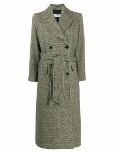 Alberto Biani double-breasted houndstooth coat - Grey