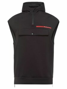 Prada Linea Rossa double technical jersey vest - Black