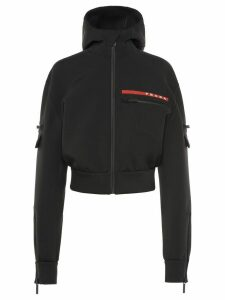 Prada Double technical jersey blouson jacket - Black
