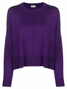 LIU JO crew-neck knit sweater - Purple