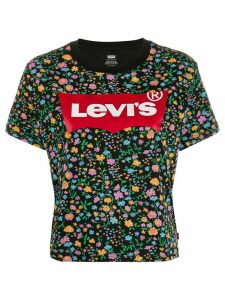 Levi's logo floral print T-shirt - Black
