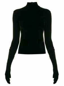 Richard Quinn gloved sleeve sweatshirt - Black