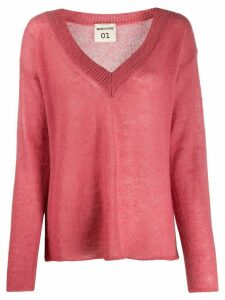 Semicouture long-sleeve flared jumper - Pink