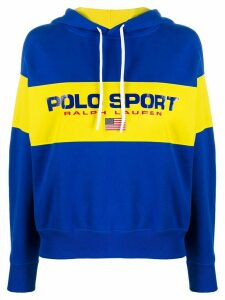 Polo Ralph Lauren logo colour-block hoodie - Blue