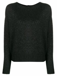LIU JO crew-neck knit sweater - Black