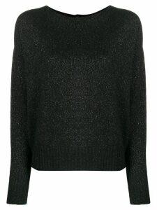 LIU JO crew-neck knit sweater - Black