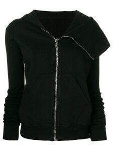 Rick Owens DRKSHDW asymmetric zip jumper - Black