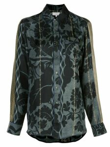 Pierre-Louis Mascia floral-embroidered shirt - Blue
