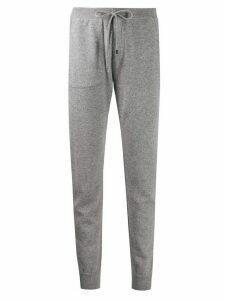 Lorena Antoniazzi knitted side stripe detail track pants - Grey