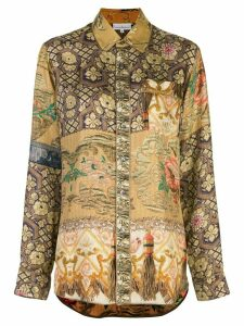 Pierre-Louis Mascia embroidered long-sleeve blouse - Gold