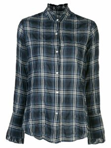 Nili Lotan plaid long-sleeve shirt - Blue