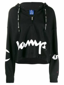 Champion printed logo zipped hoodie - Black