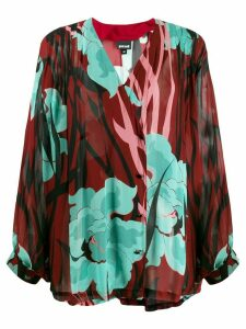 Just Cavalli loose fit floral print blouse - Red