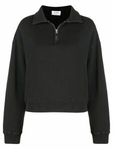 Re/Done half-zip collared sweatshirt - Black