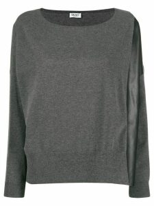 LIU JO loose-fit knitted top - Grey