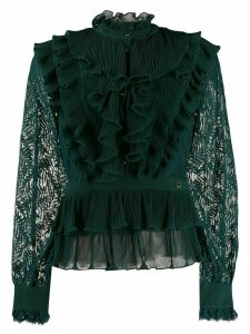 Just Cavalli ruffled trimmed blouse - Green