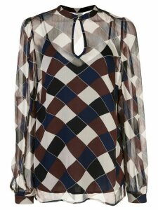 Baum Und Pferdgarten geometric long-sleeved blouse - Brown