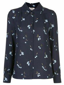 Baum Und Pferdgarten cherry-embroidered shirt - Blue