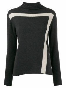 Lorena Antoniazzi stripe detail ribbed sweater - Grey