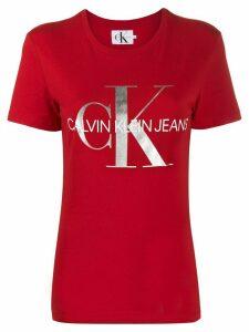 Calvin Klein Jeans logo print T-shirt - Red
