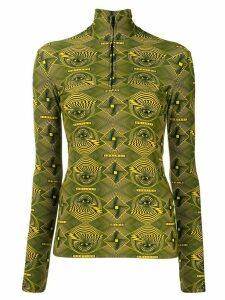 Kwaidan Editions digital print top - Green