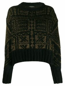 Roberto Collina metallic-thread knit sweater - Black