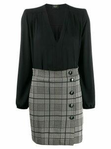 LIU JO glen check short dress - Black
