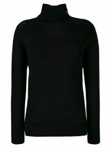 Ermanno Scervino lace panel turtleneck jumper - Black