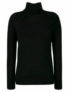 Ermanno Scervino lace panel turtleneck jumper - Black