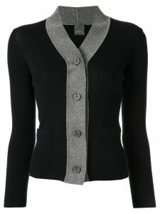 Lorena Antoniazzi color-block knit cardigan - Black