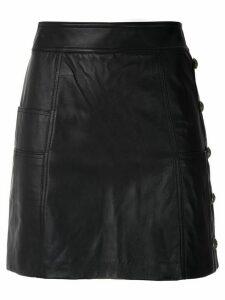 Andrea Bogosian Paulyne leather skirt - Black