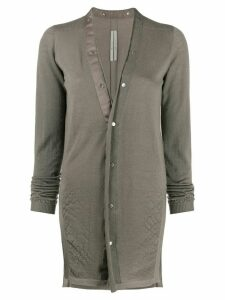Rick Owens creased detail cardigan - Grey