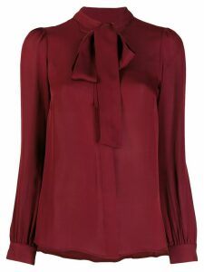 Michael Kors Collection pussy bow blouse - Red
