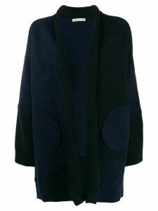 Stefano Mortari open knitted cardigan - Blue