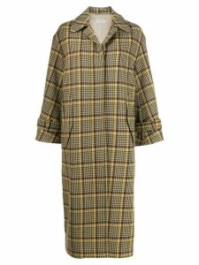 Alberto Biani plaid single-breasted coat - Brown