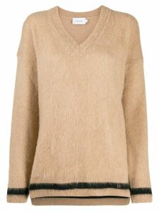 Calvin Klein V-neck knitted sweater - NEUTRALS