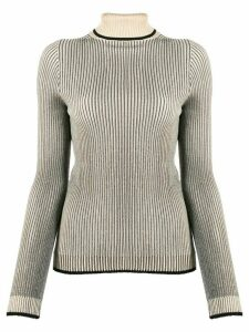 Marco De Vincenzo ribbed knit roll neck sweater - NEUTRALS