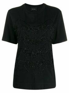 Simone Rocha sparkle-trim T-shirt - Black