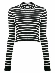 T By Alexander Wang striped cropped jumper - Black