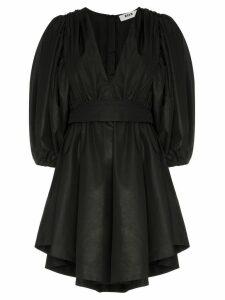 MSGM puff sleeve mini dress - Black