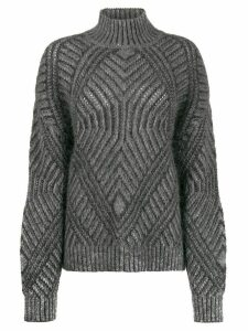 Alberta Ferretti textured knit jumper - Grey