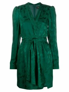 Saloni Bibi wrap silk dress - Green