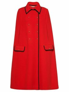 Miu Miu double-breasted knit cape - Red