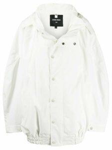 Chen Peng oversized hooded jacket - White