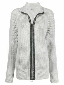 Eleventy chunky knit zipped cardigan - Grey